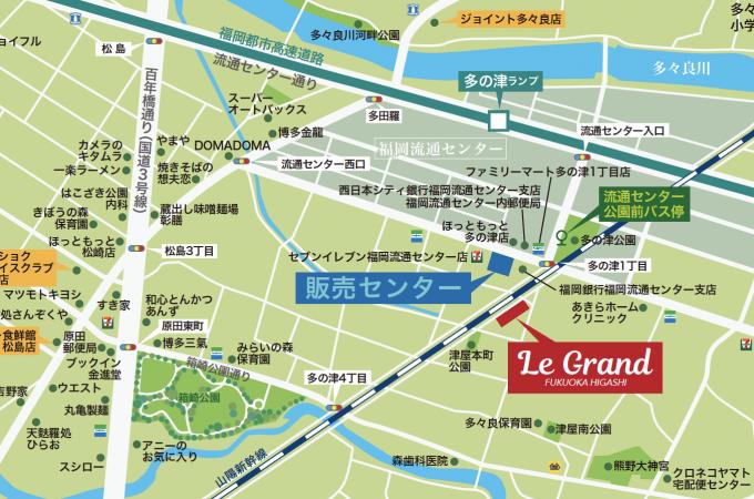 ルグラン福岡東地図