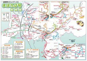 太宰府市コミュニティバス路線図