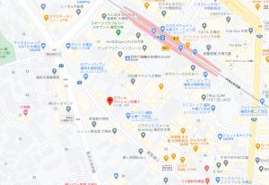 ロワールマンション大橋Ⅰ近隣地図