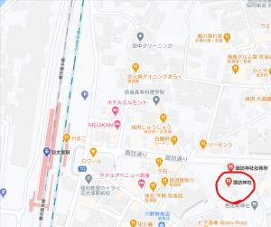 諏訪神社地図