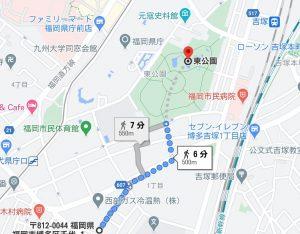 千代県庁までの道のり