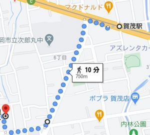 賀茂駅かの地図