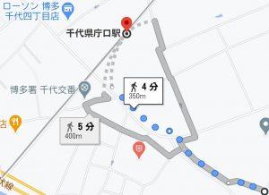 トラストビル千代県庁口地図