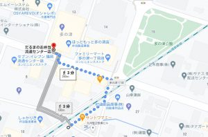 だるまべ弁当 地図