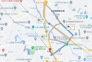 水城跡第2広場地図