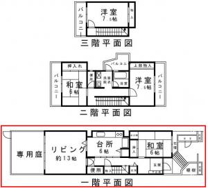スカイタウン寺塚 平面図1階