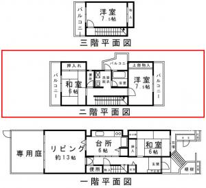 スカイタウン寺塚 2階平面図